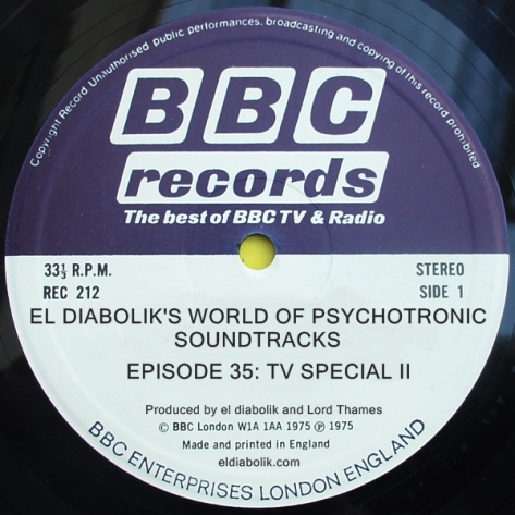 el diabolik's world of psychotronic soundtracks episode 35 TV special