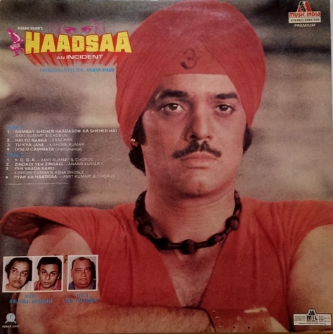 Kalyanji Anandji - Haadsaa - back sleeve