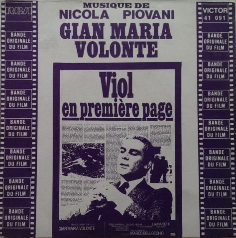 Nicola Piovani - Viol en Premiere page - Sbatti il mostro in prima pagina